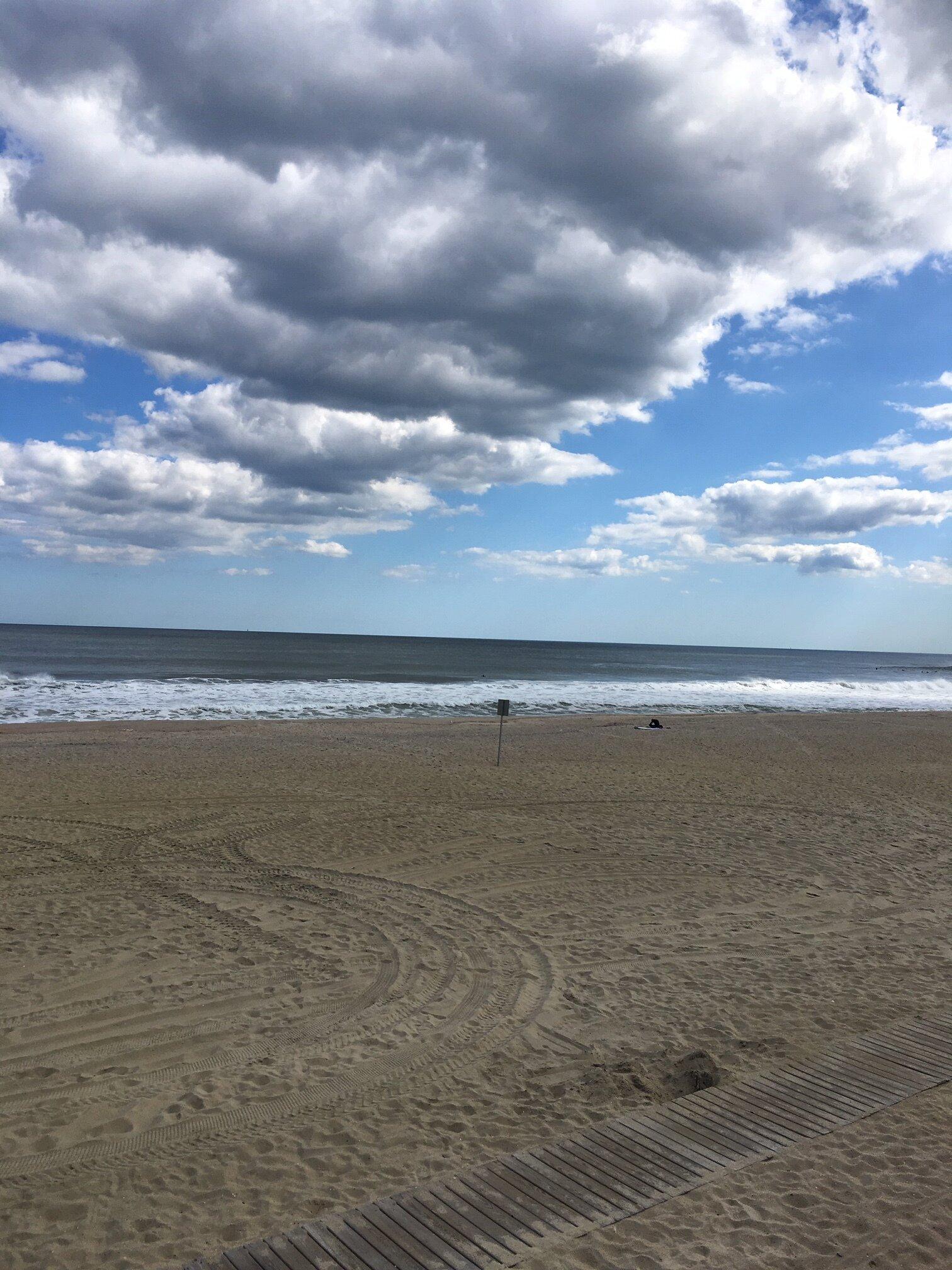 The beach at home.