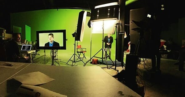 Where are we Wednesday? We're making magic happen on the 60 foot green screen. . . . . . . #wherearewewednesday #whereareyou #greenscreen #magic #film #filming #filmcompany #cinema #cinematography #storytelling #tellingyourstory #wemakevideosworthwatching #oklahoma #tulsa #retrospecfilms