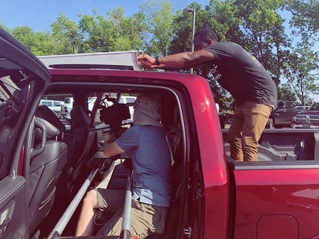 @brandonjyrome - actor, grip, and human stand extraordinaire. . . . . . . #film #filming #filmcompany #filmmaking #filmmaker #cars #trucks #commercials #cinema #cinematography #grip #oklahoma #summer #storytelling #tellingyourstory #wemakevideosworthwatching #tulsa #retrospecfilms