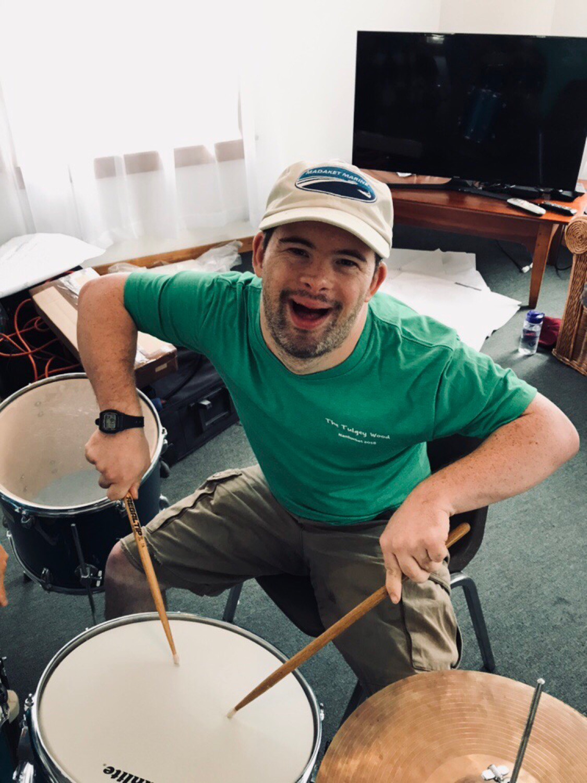 Luke teaches us how to drum