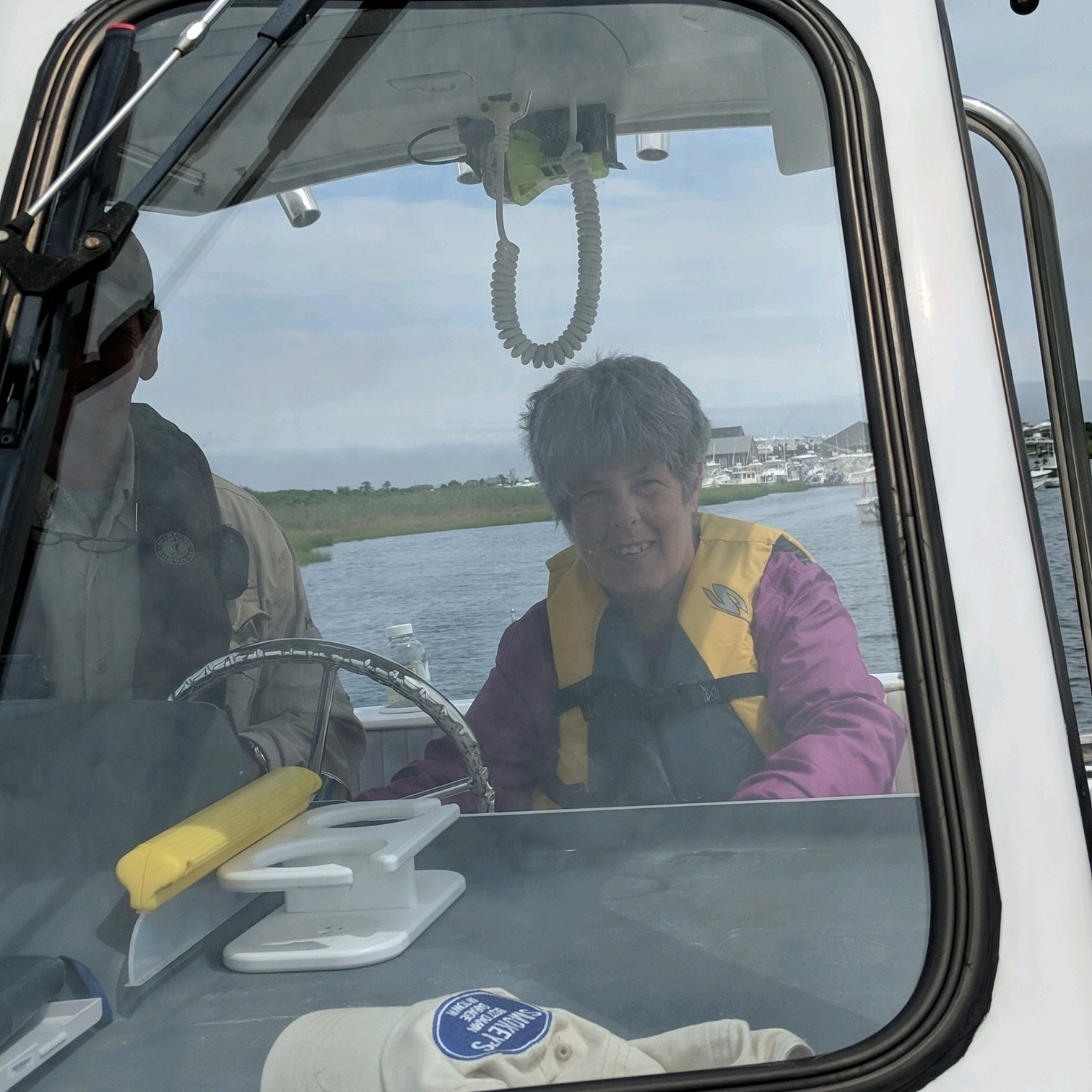 Ellen drives the boat!