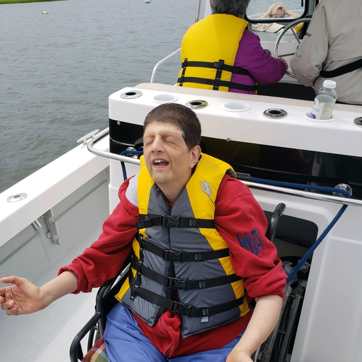 Peter enjoying the boat