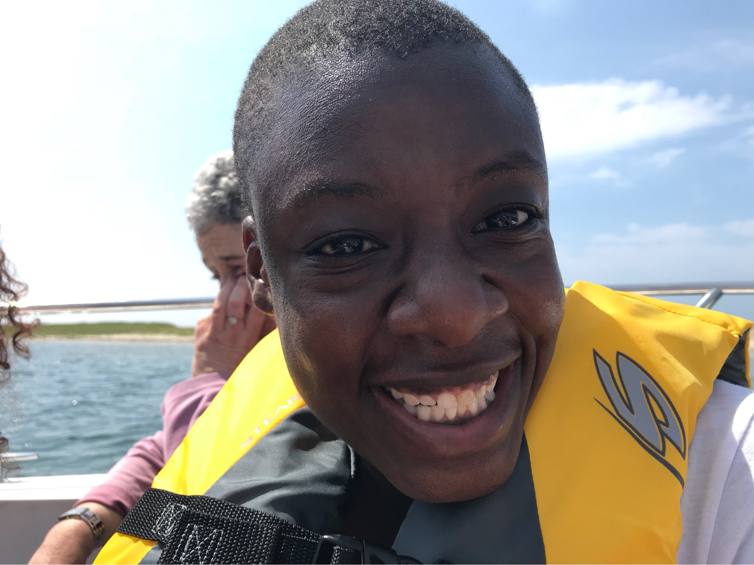 Adama loved driving the boat!