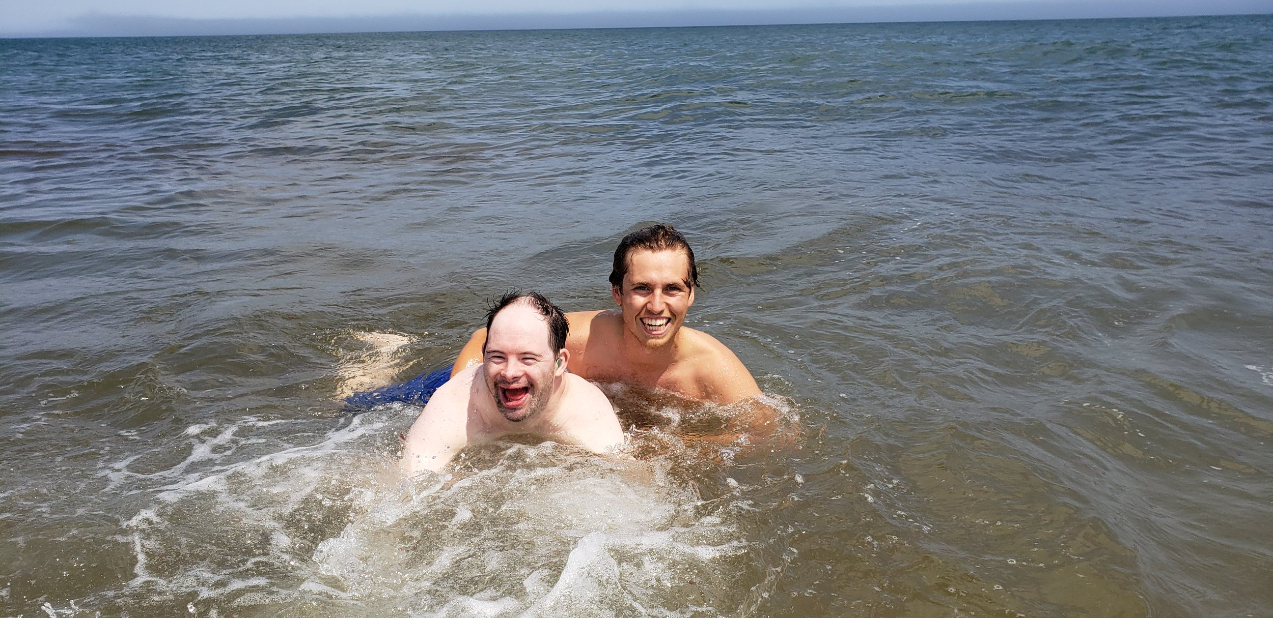 Luke and Kieran are natural swimmers!
