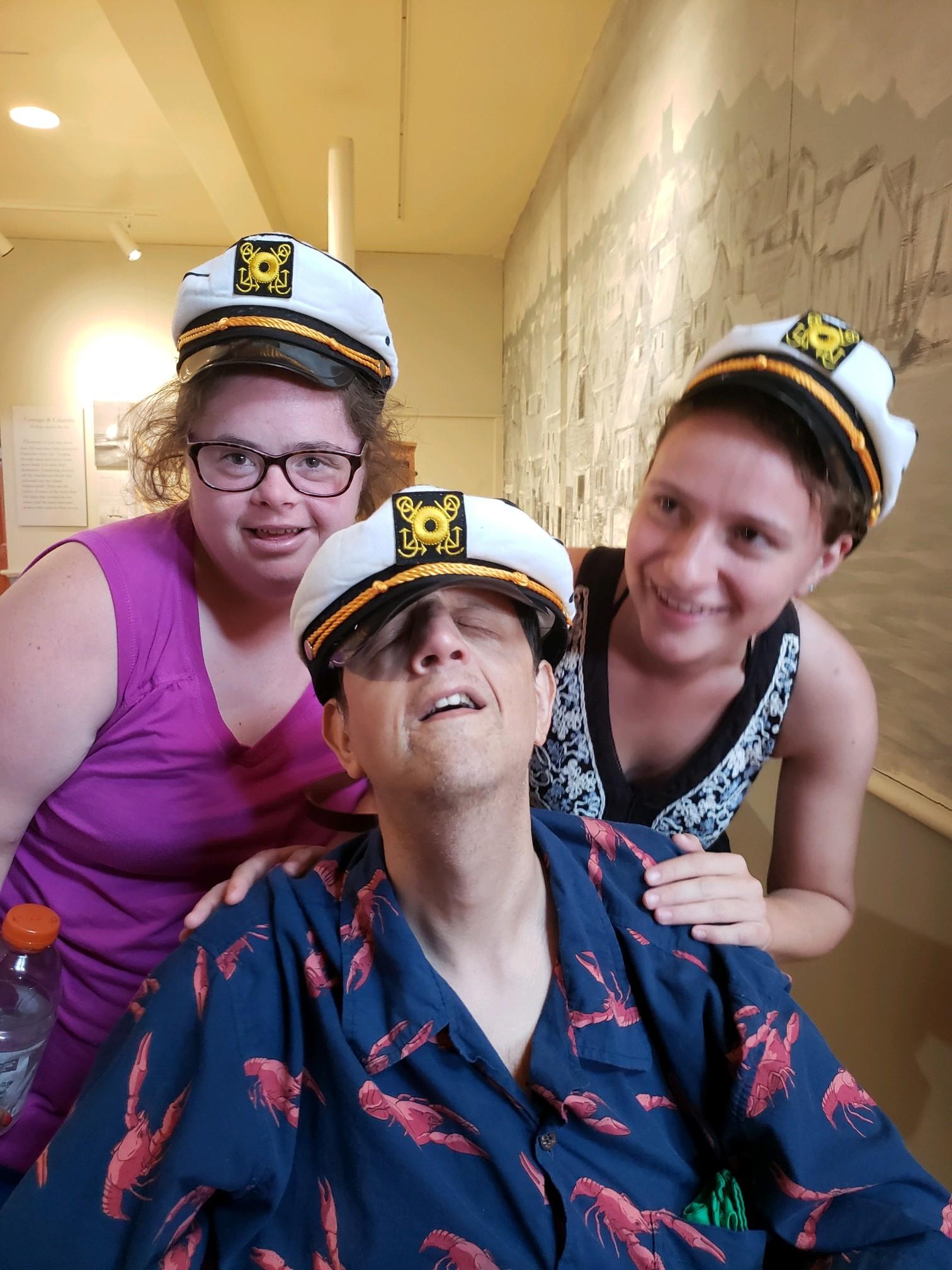 Katie, Peter, and Jamie becoming sailors!