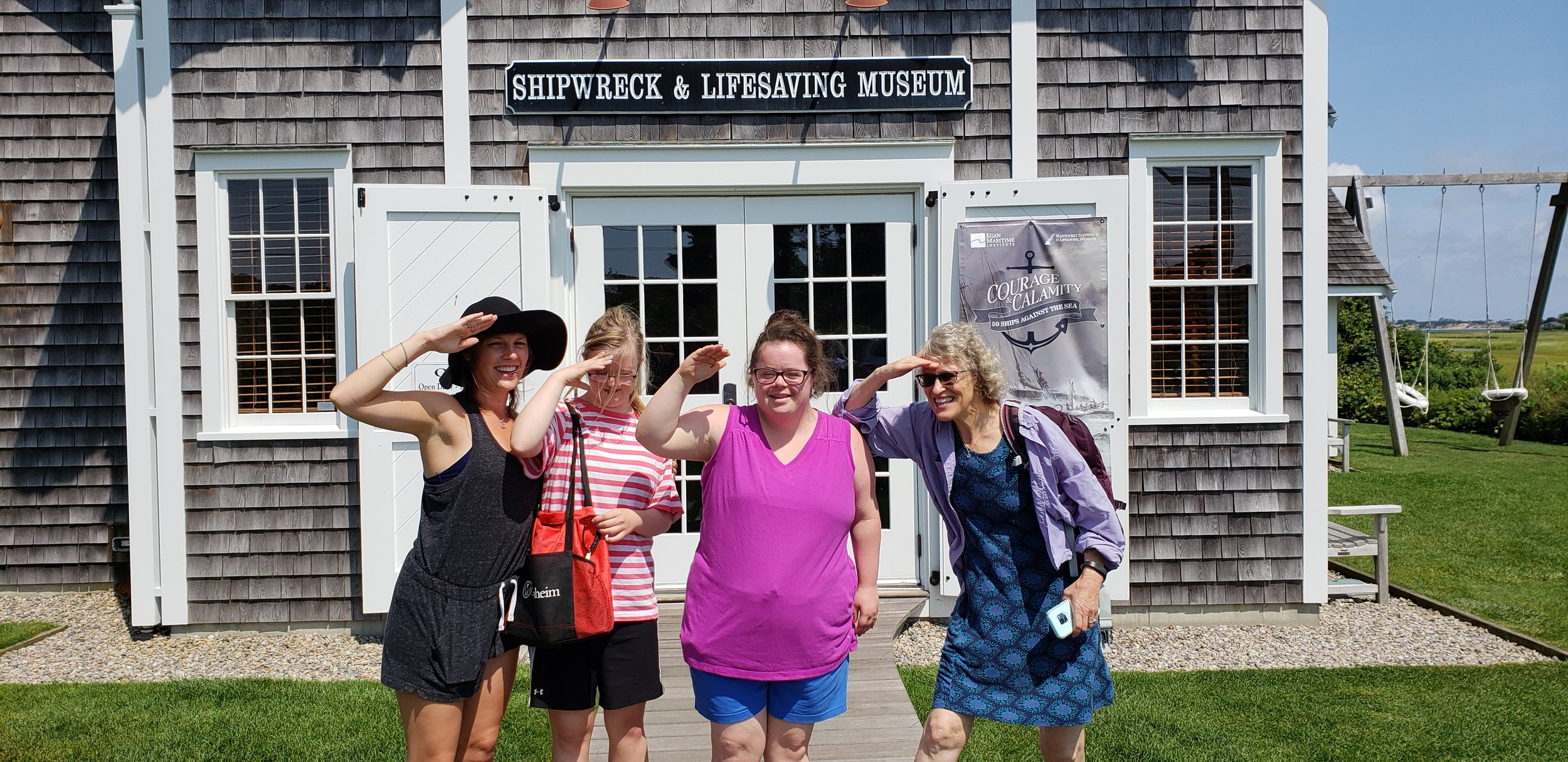 Outside the shipwreck museum