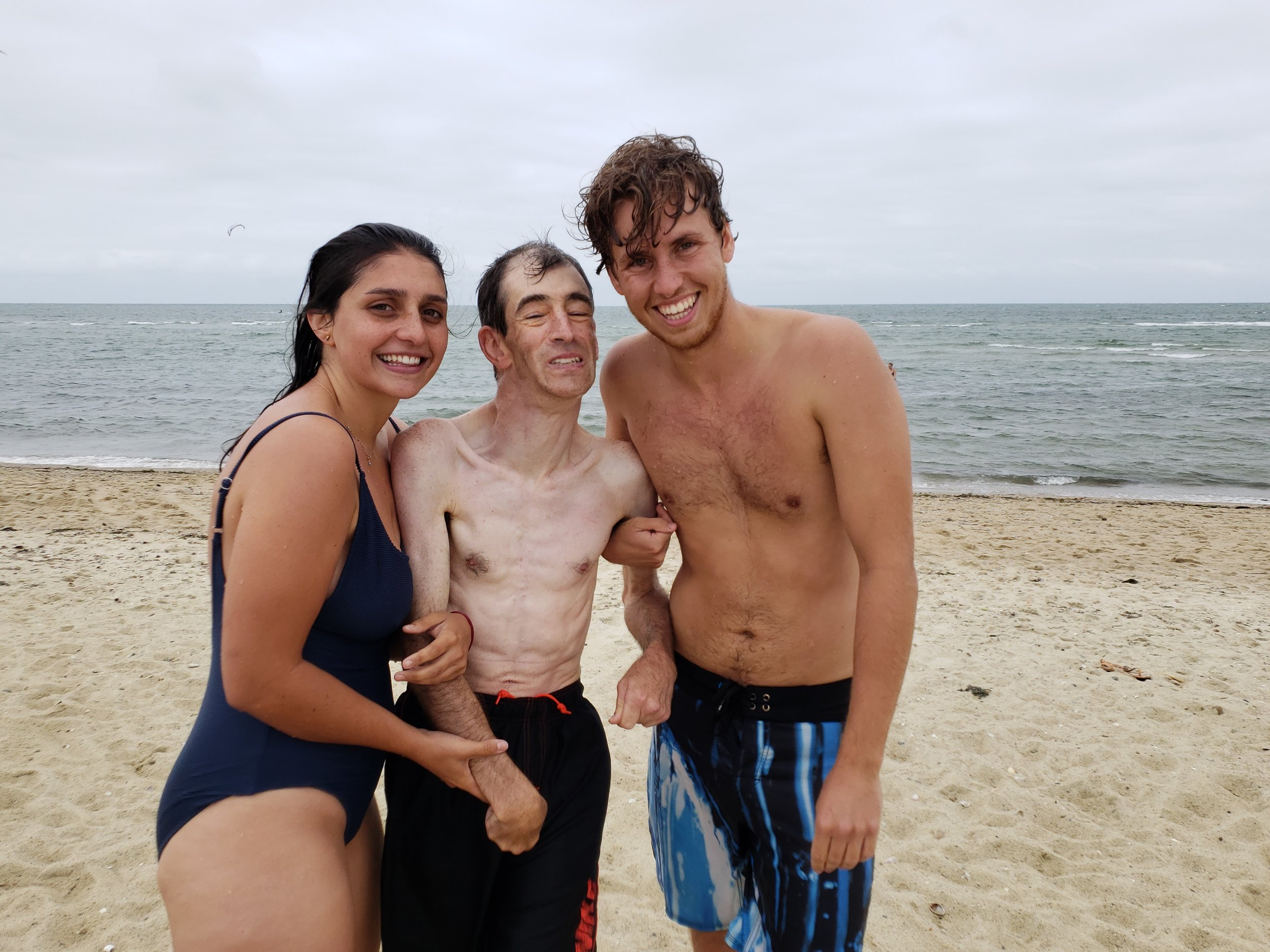 Billy, Giulia and Kieran braved the water