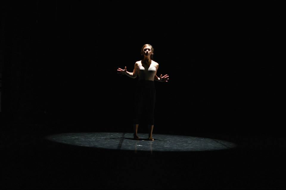"""Dark/Light"" at Mariott Center for Dance, Salt Lake City, UT  Choreographed and Performed by Sara Parker  Photo by Kylie Rae Lloyd"