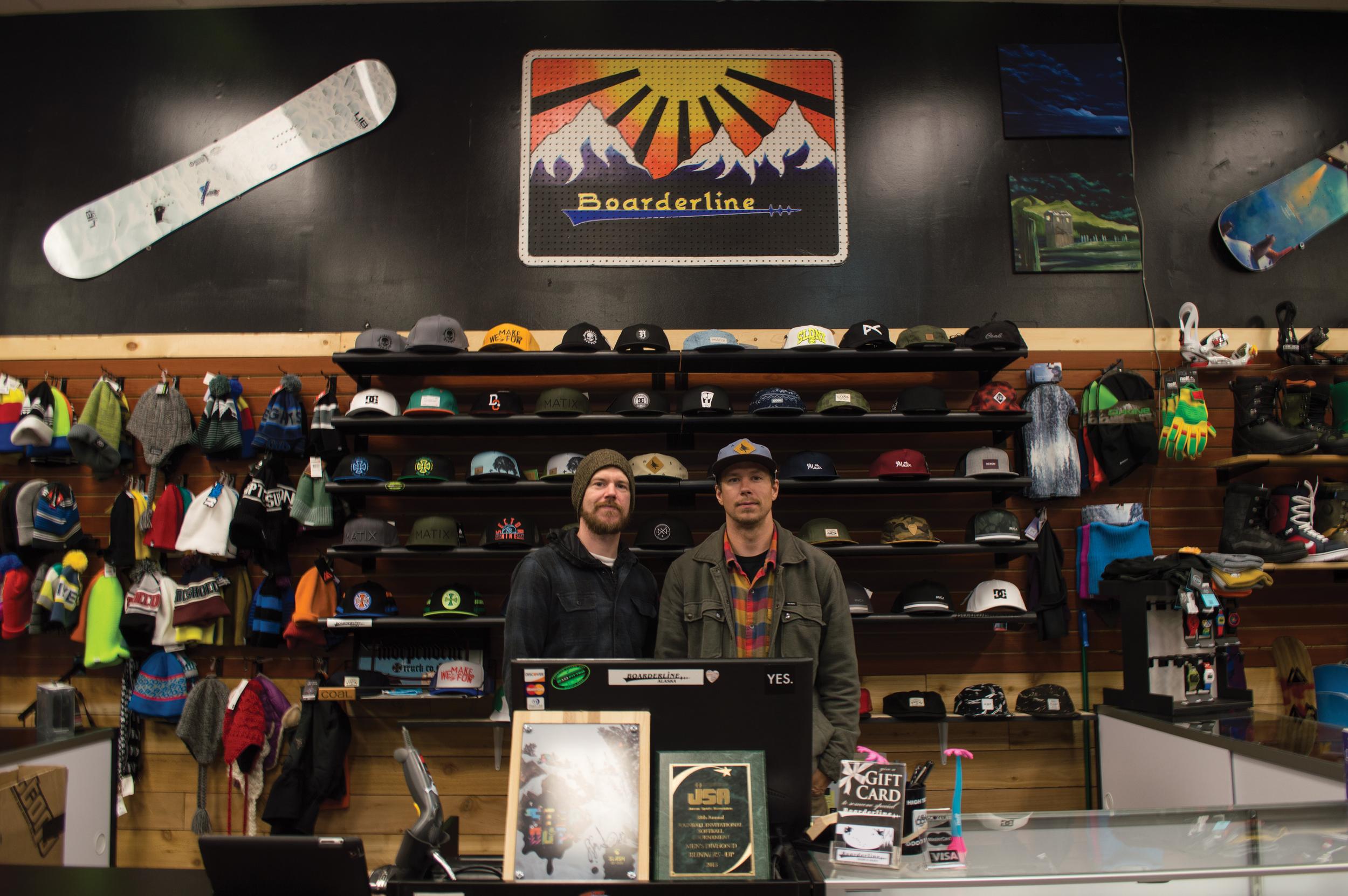 Deez and Jake at Boarderline Legacy in Juneau