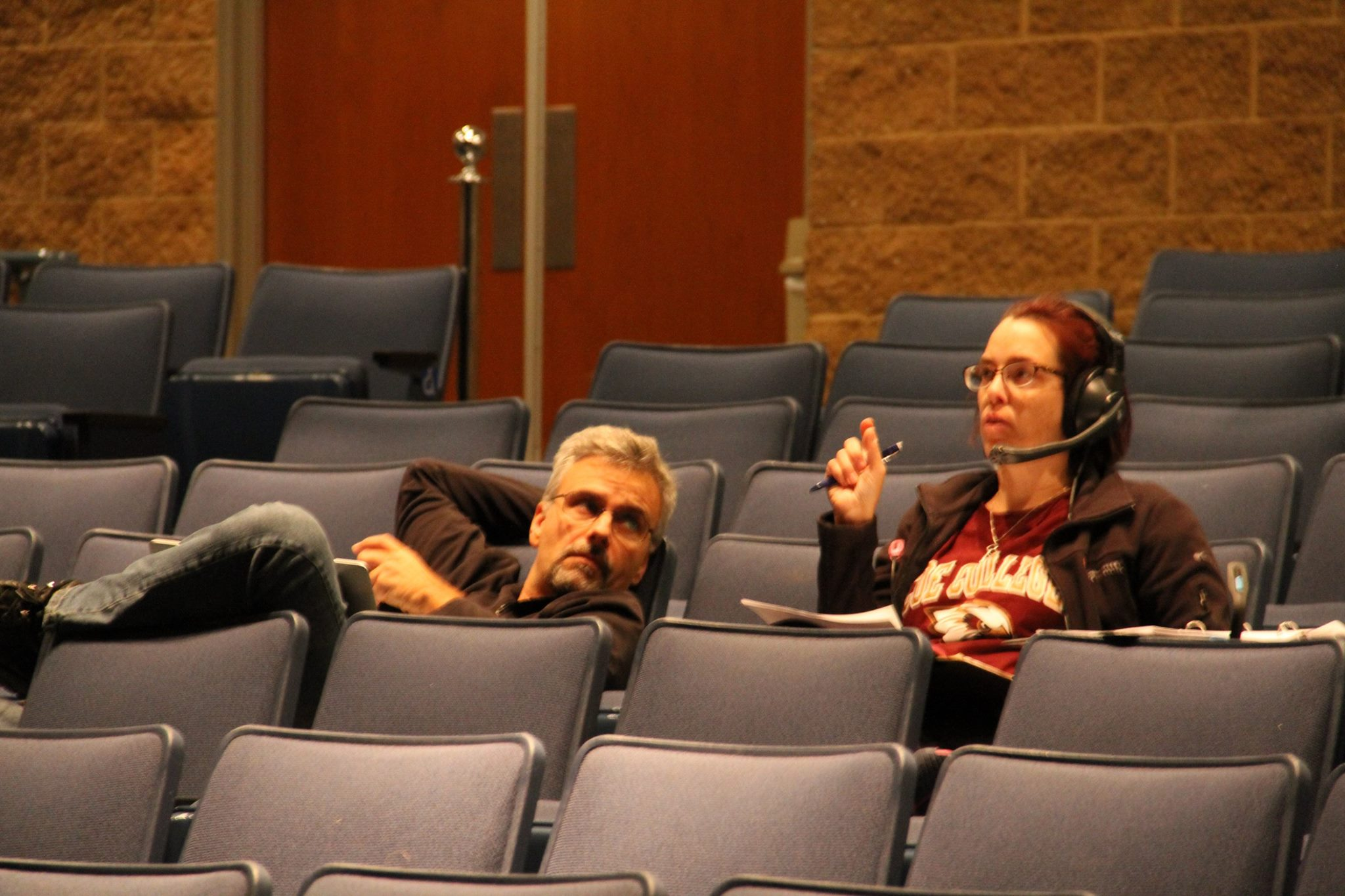 Working with Director, David Rzeszutek on a production at Saginaw Valley State University