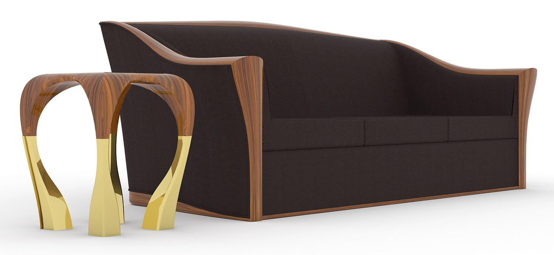 Kinkaid Sofa & Bond Side Table