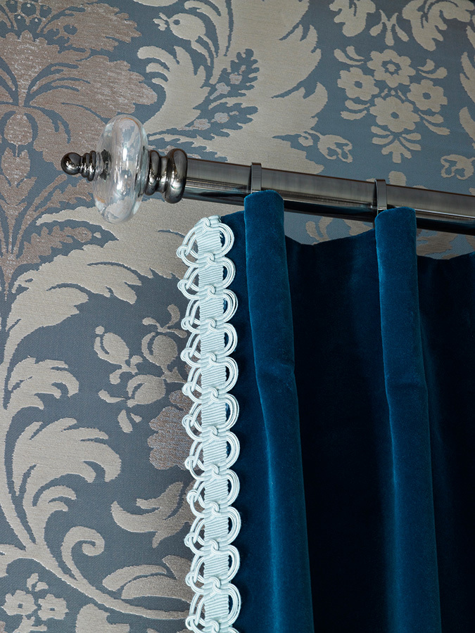Hardware:   Lucia Collection   Trim:    Plaza Collection   Fabric:   Eden Collection