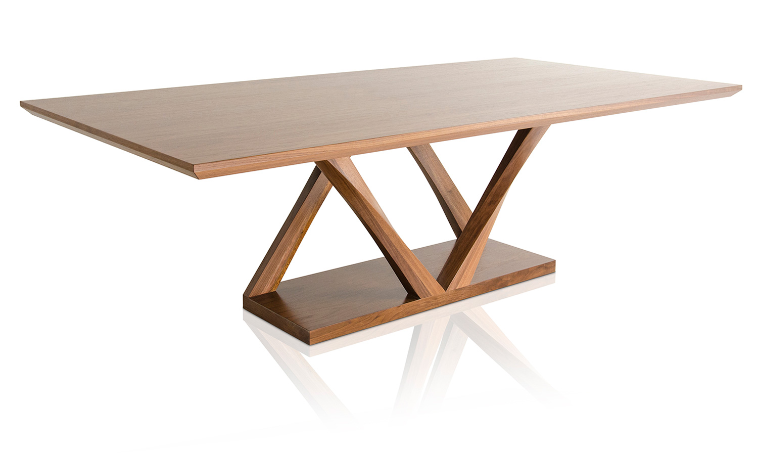 Z Dining Table Double Fused Base