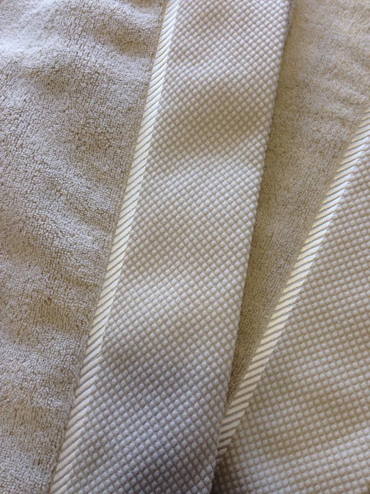 Bespoke Diagonal Line Embroidery Jolie Journee Taupe Towels  SKU#Kear-JJ-HT-Taupe with Cream Bespoke embroidery.jpg