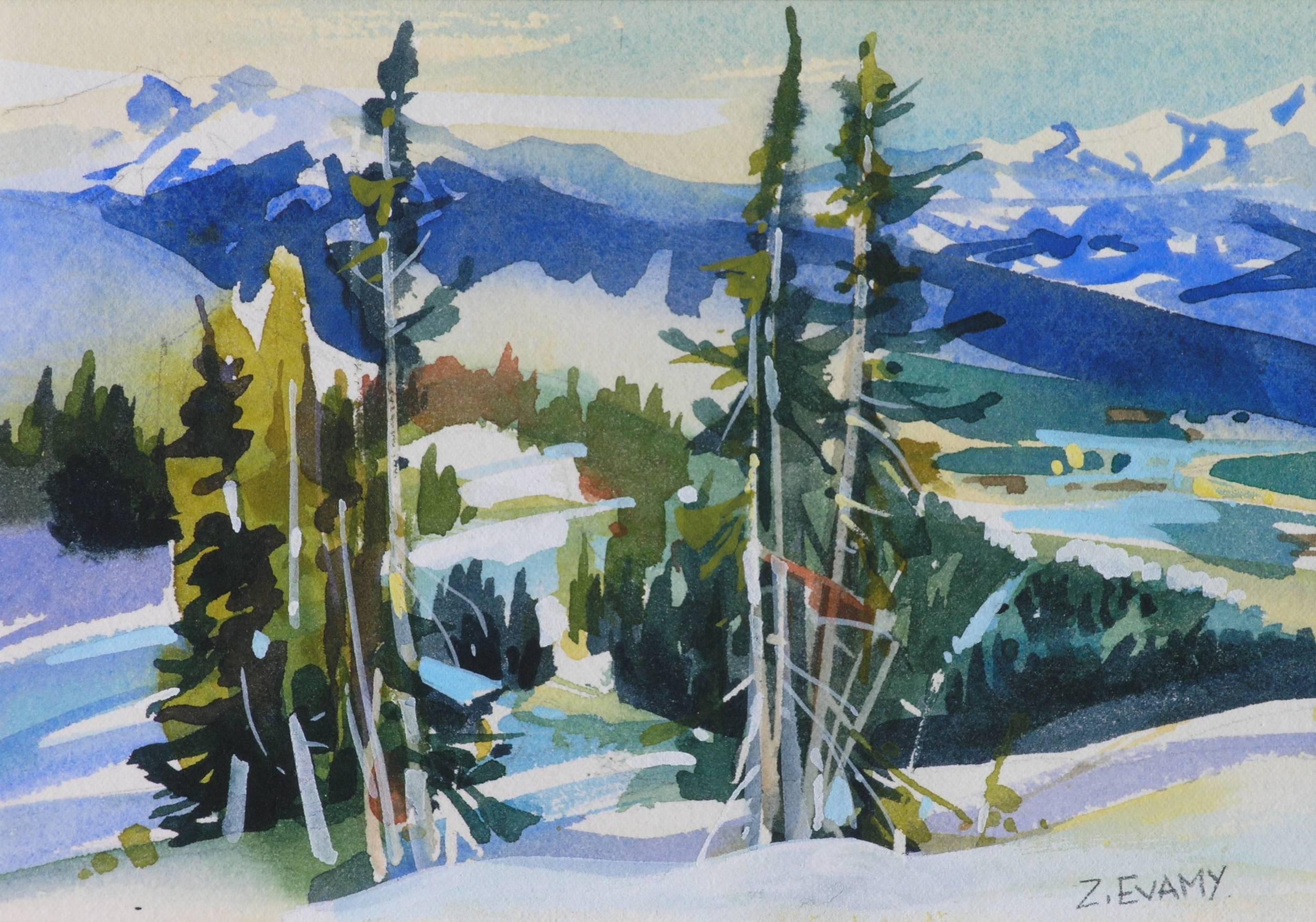 """Whistler Mountain sketch  5.5""""x8"""""""