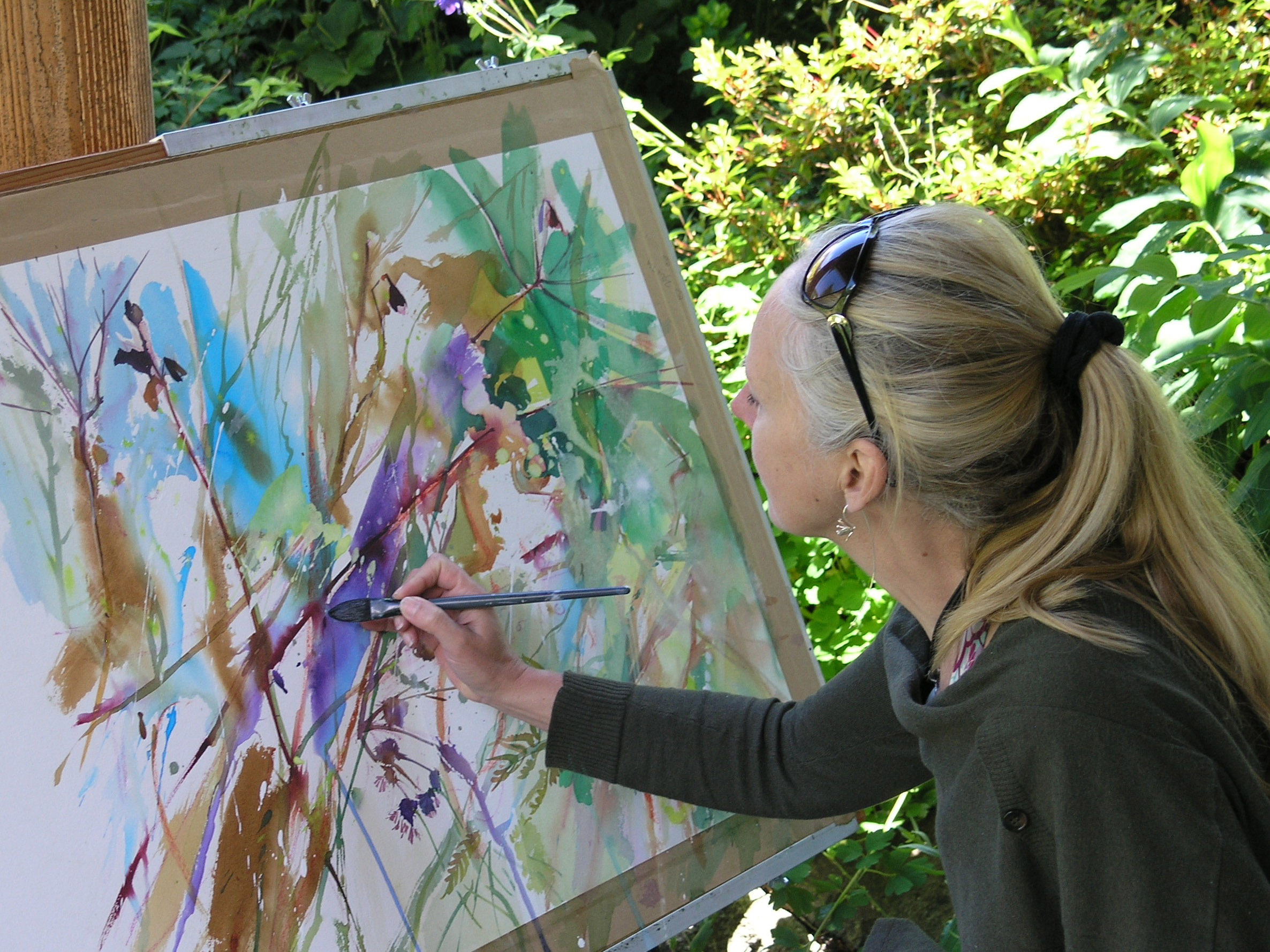 LIGHT AND SHADE  ARTIST ZOE EVAMY (PICTURED) IS OFFERING A COURSE IN PAINTING WATERCOLOURS