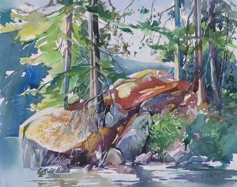 """Island on Alta"" watercolour - workshop demo"