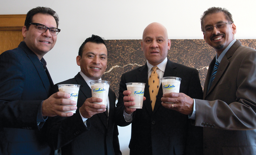 From left to right: David Chavez, Jose Luis Valdez, Ruben Zaragoza and Andrew Morales.  Photo by Ivan Aguirre.