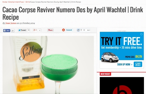 """Cacao Corpse Reviver Numero Dos,""  StupidDOPE,  October 2014"