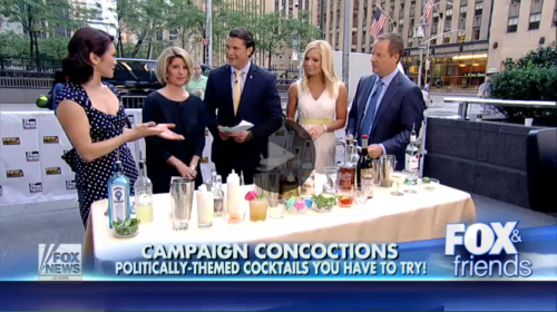 """Politically themed cocktails you have to try!""  Fox & Friends,  August, 2015"