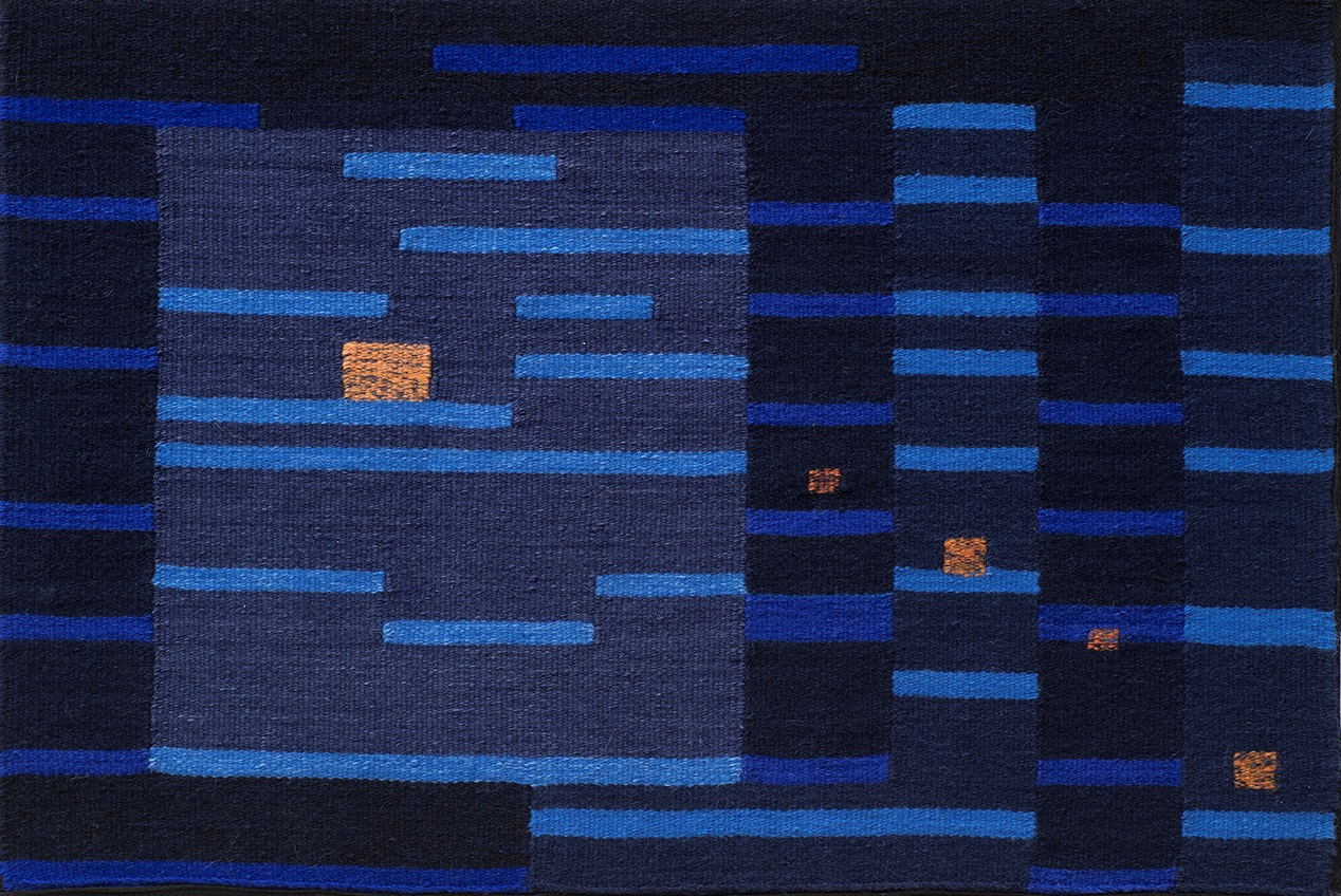 "Blue Notes Phase VII. 21"" x 31"""