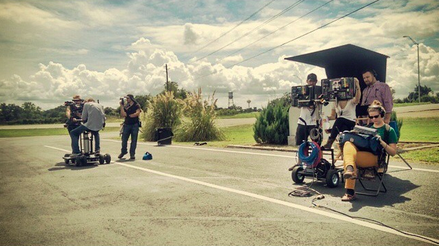 ACCH Crew on set in Smithville. Photo Credit: Richard Porter