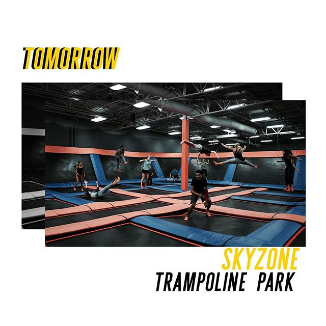 We're heading to Sky Zone Trampoline Park tomorrow! If you want to join us, it's $15 to go. But before coming tomorrow make sure to fill out the Sky Zone waiver form with a parent (https://tinyurl.com/skyzonewaiverlink) LINK IS IN BIO TOO. See you tomorrow at 1pm! #kaleoteens #SummerattheTC #skyzone