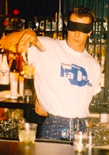 Scott Young Flair Bartender Blindfold Throws Full Drink