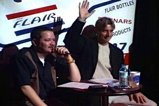 Scott Young Judges Canadian Flair Bartender Contest