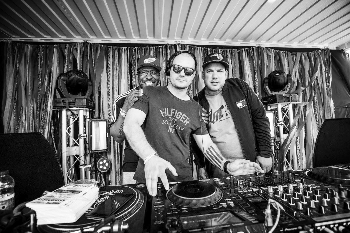 Tony and Lukas DJing at Common People Oxford Festival, as 'Back For Good'