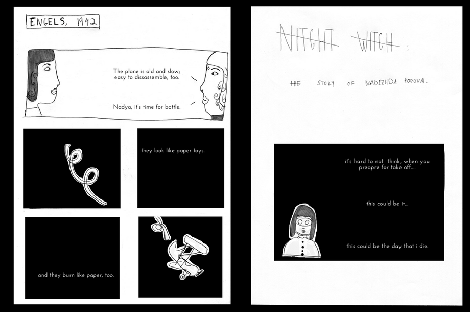 "The first iteration of ""NightWitches"" was a comic."