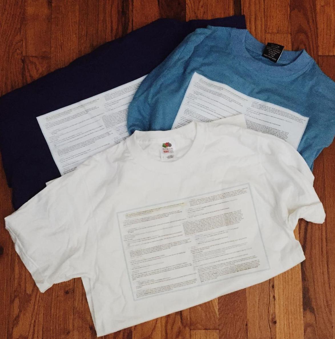 Printed tee shirts