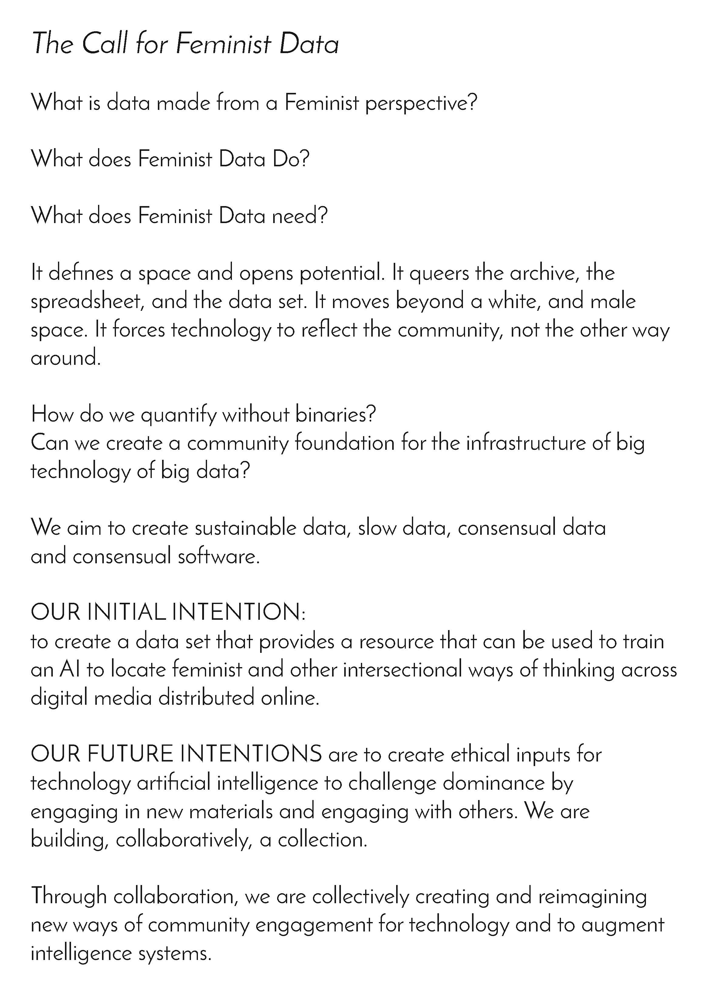 Our Manifesto: outlined at SPACE Art and Technology in 2017, adapted in 2018 for YBCA's Public Square.