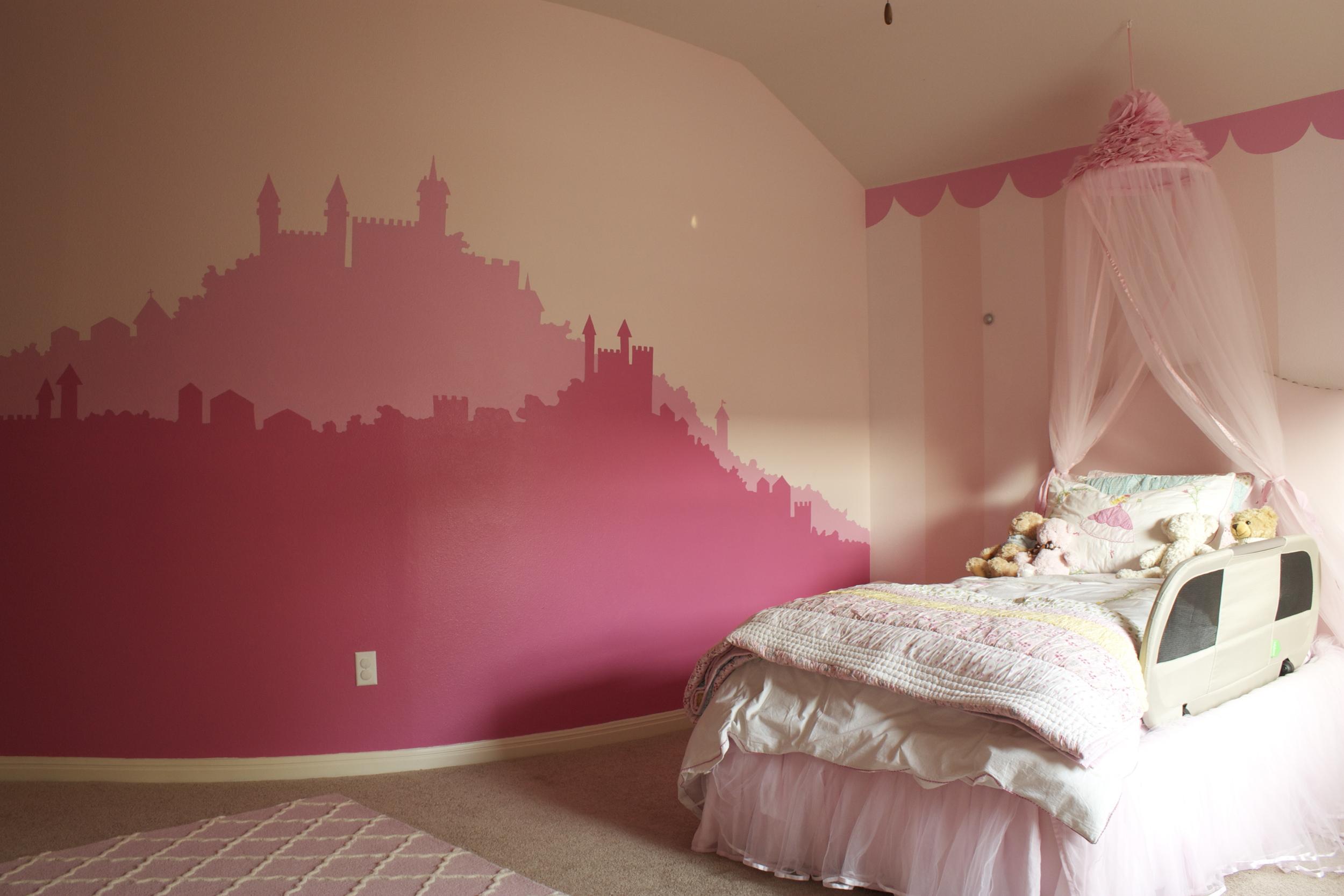 Princess castle toddler bedroom, private residence