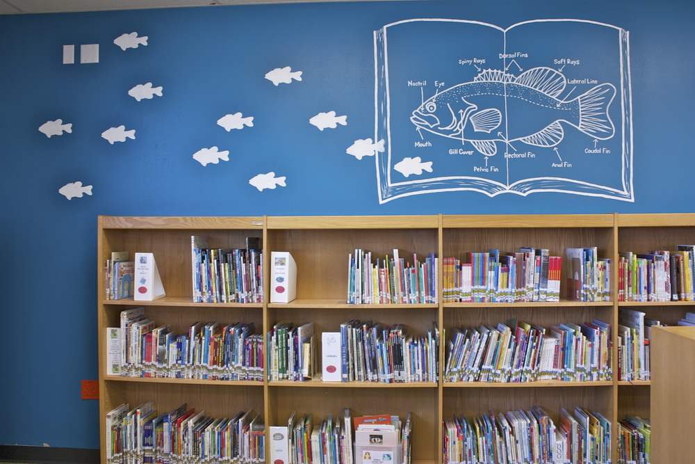 Cedar Creek Elementary library, Westlake