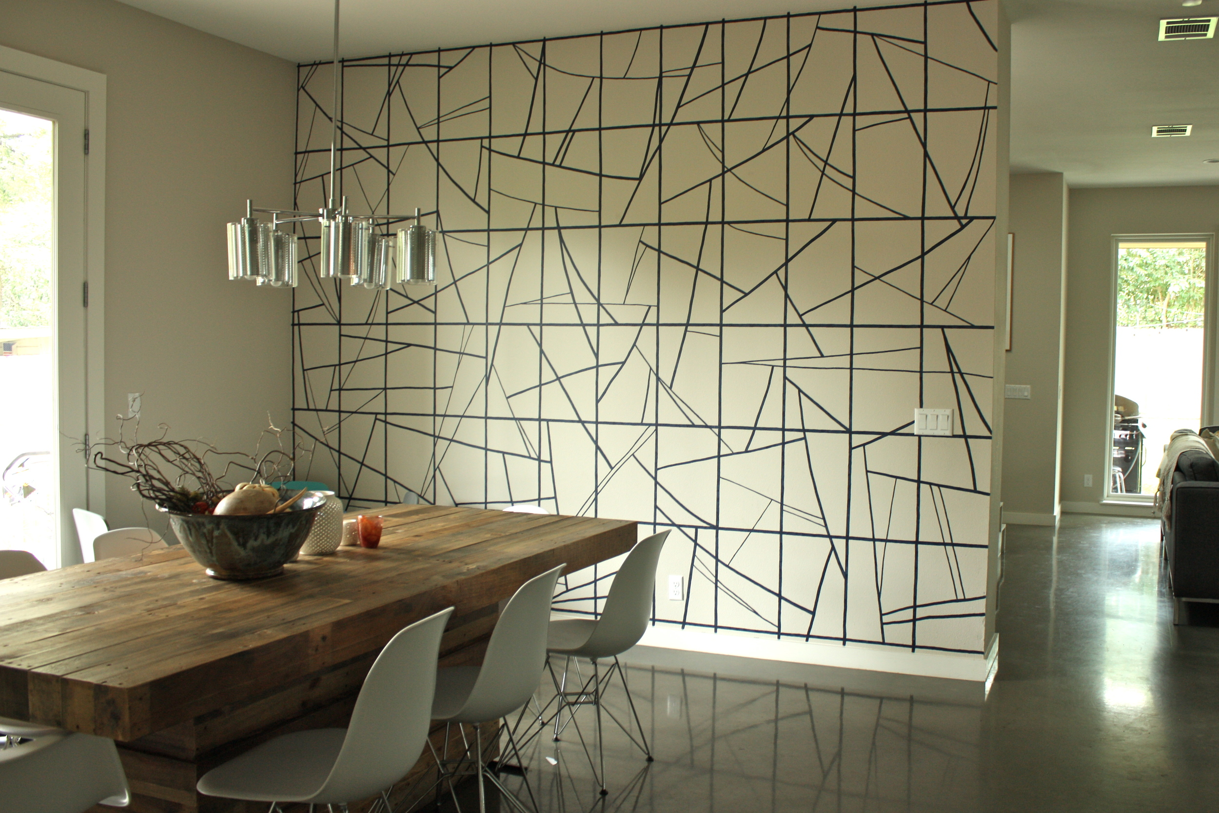 Dining room accent wall, private residence