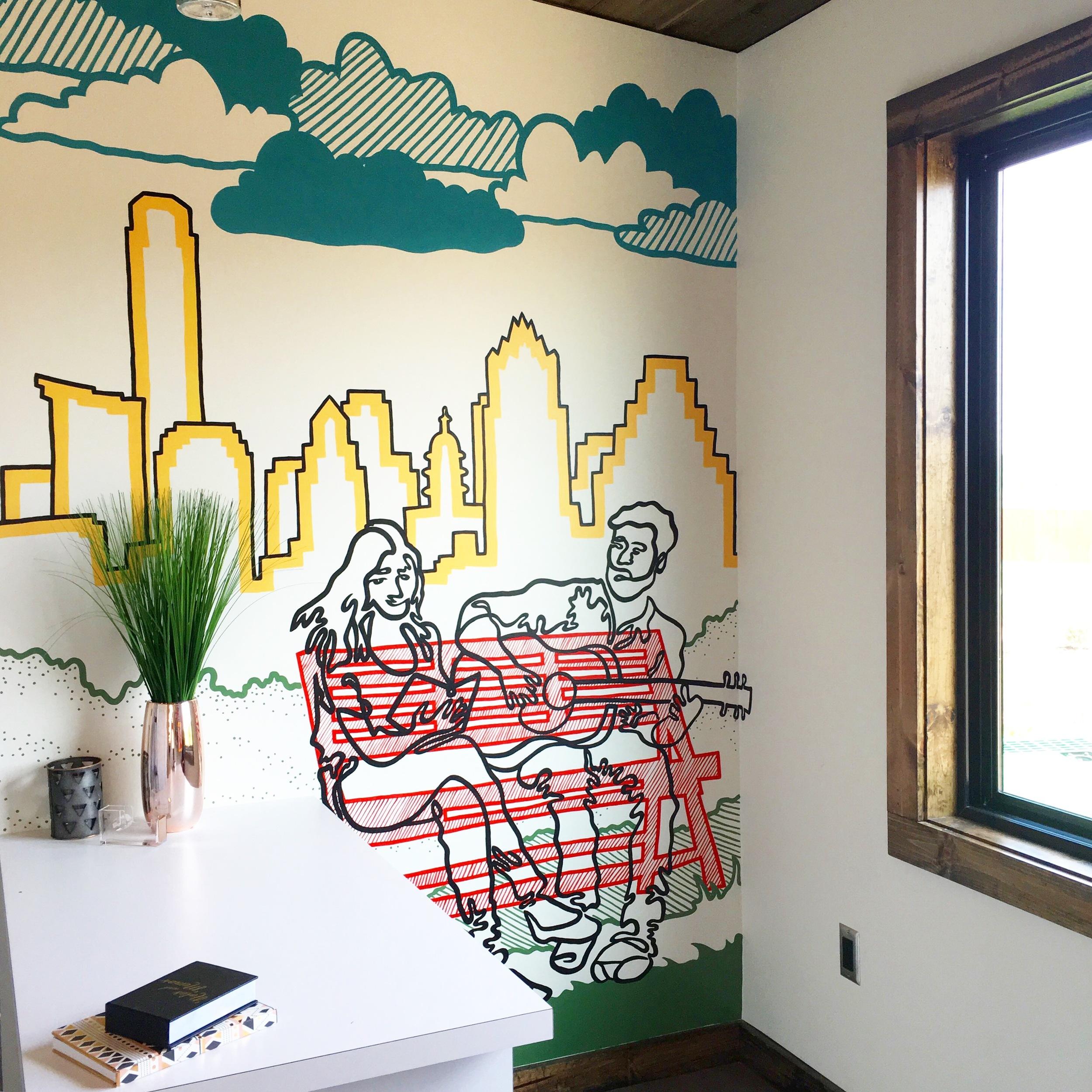 Easton Park Office Mural, Austin
