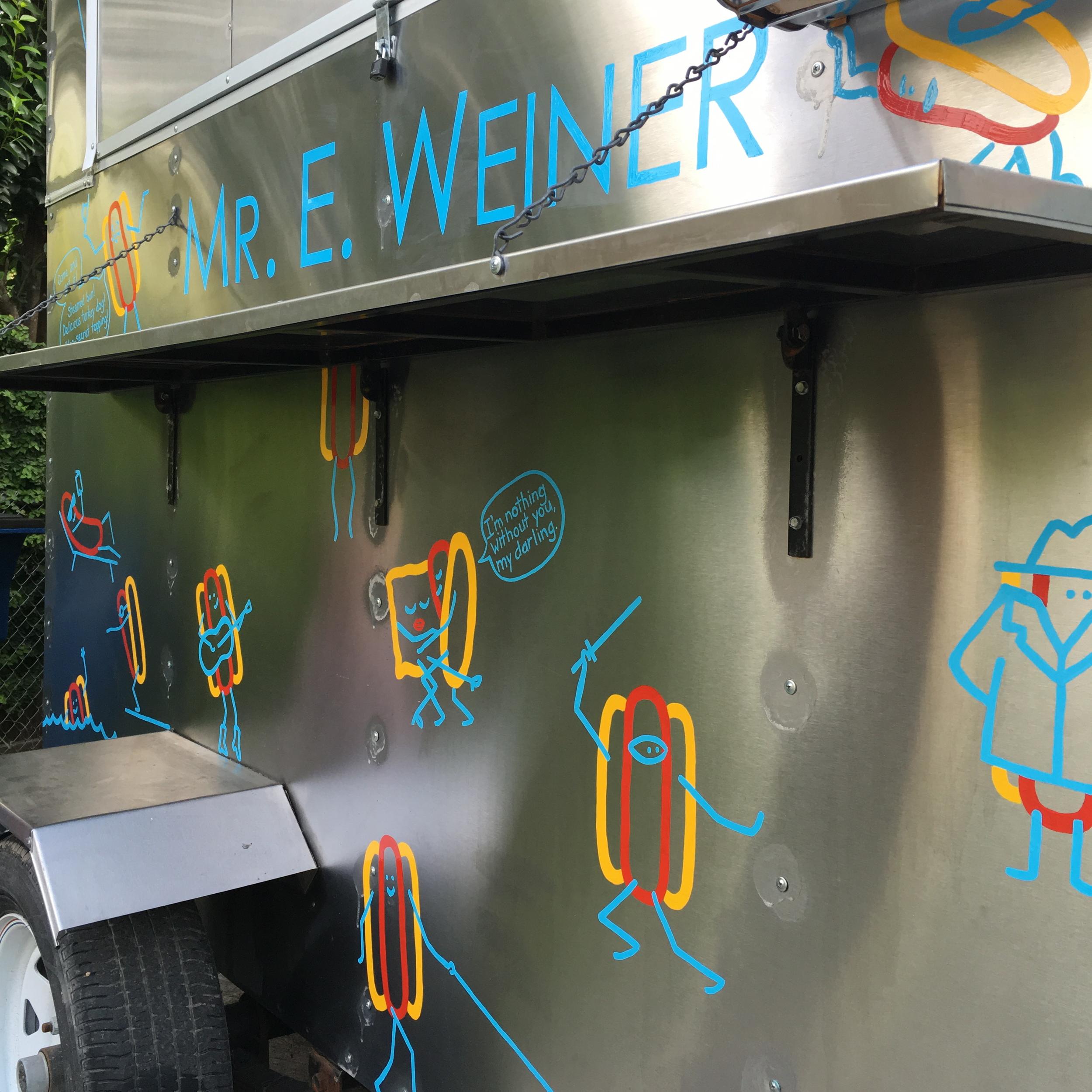 Mr E. Weiner food truck detail