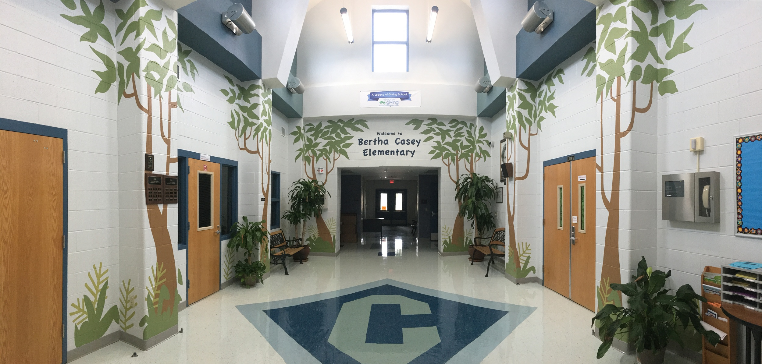 Casey Elementary School atrium