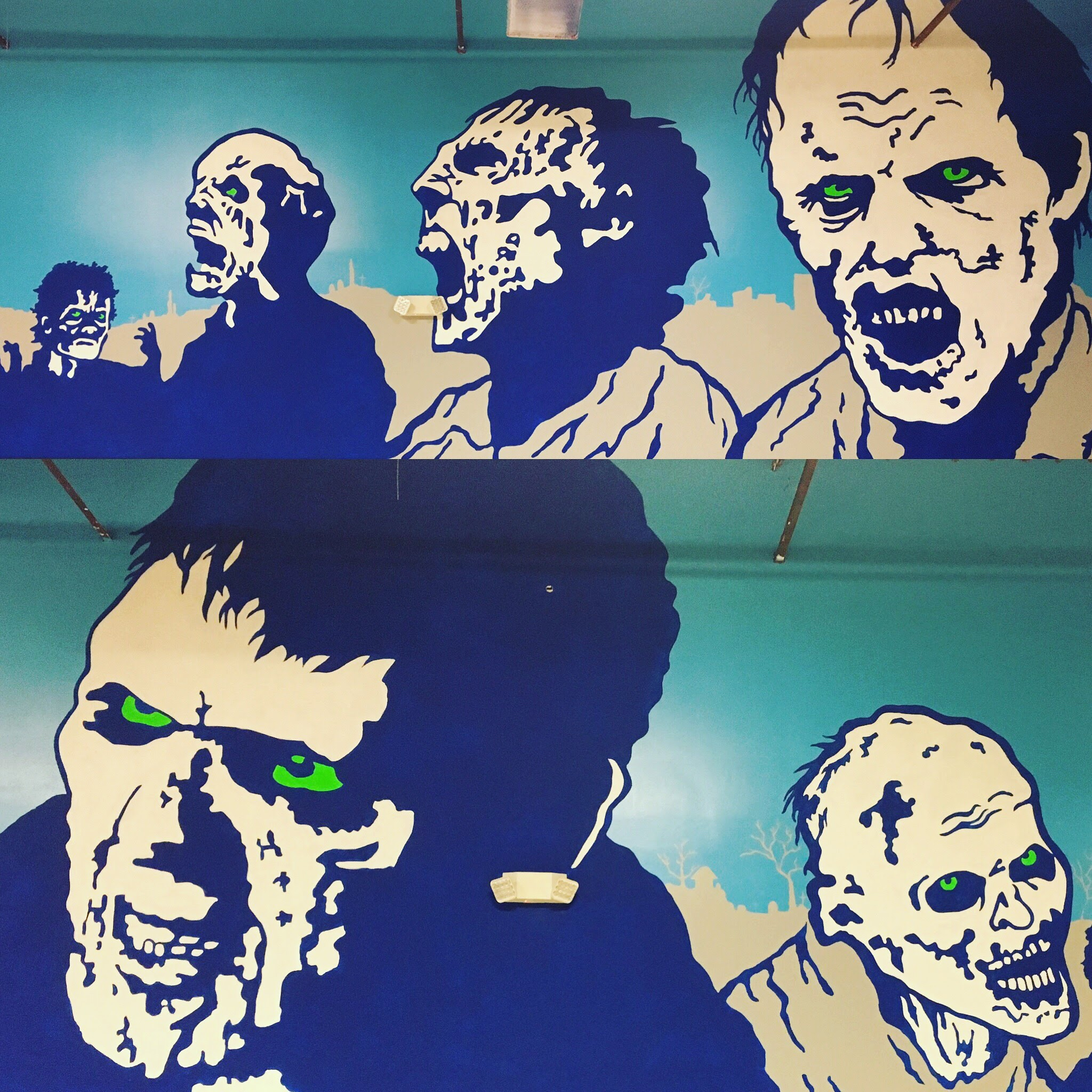 Dart'Em Up Nerf Gun Arena Zombie Mural, Austin