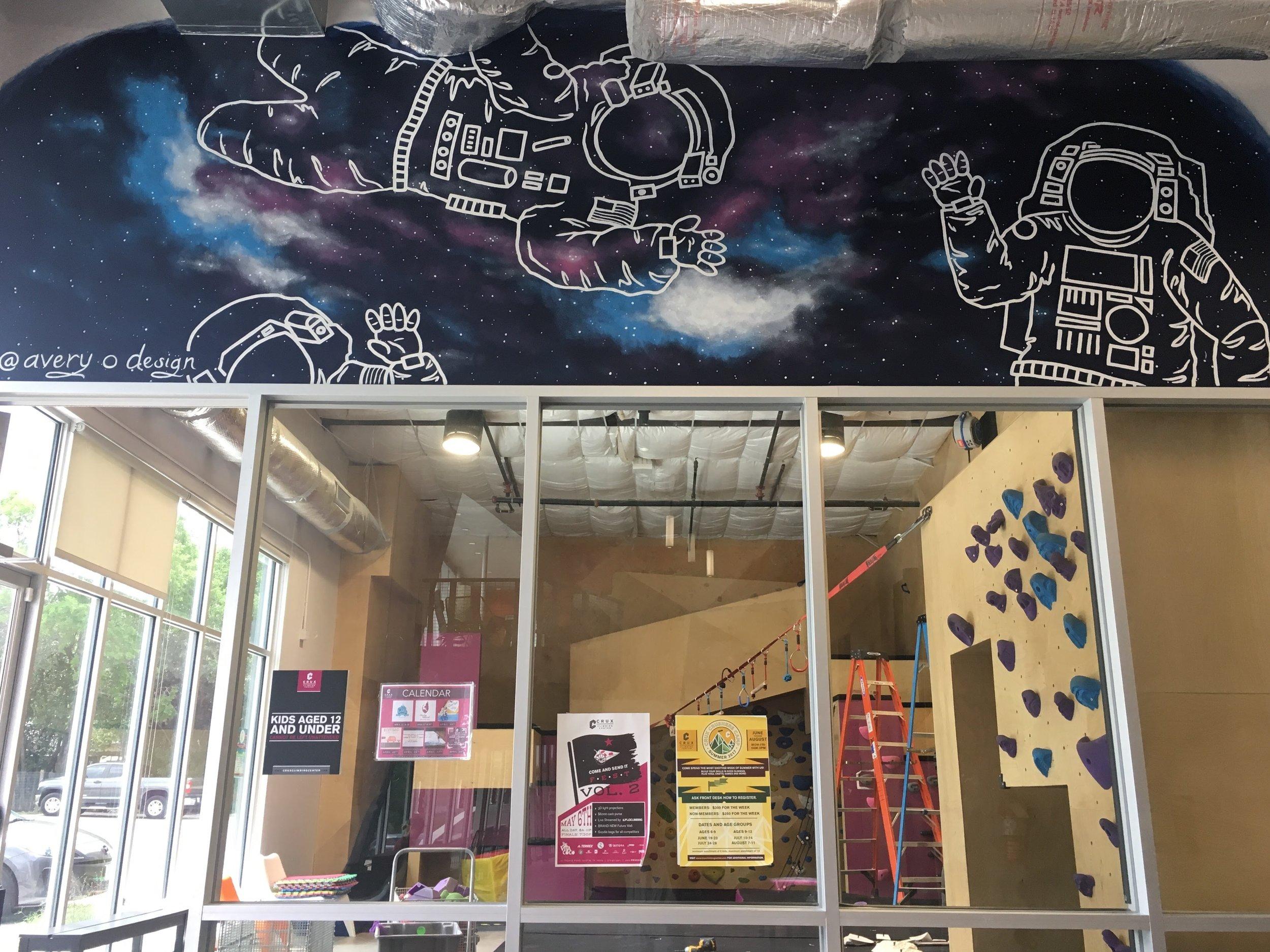 Crux Climbing Gym Mural, Austin