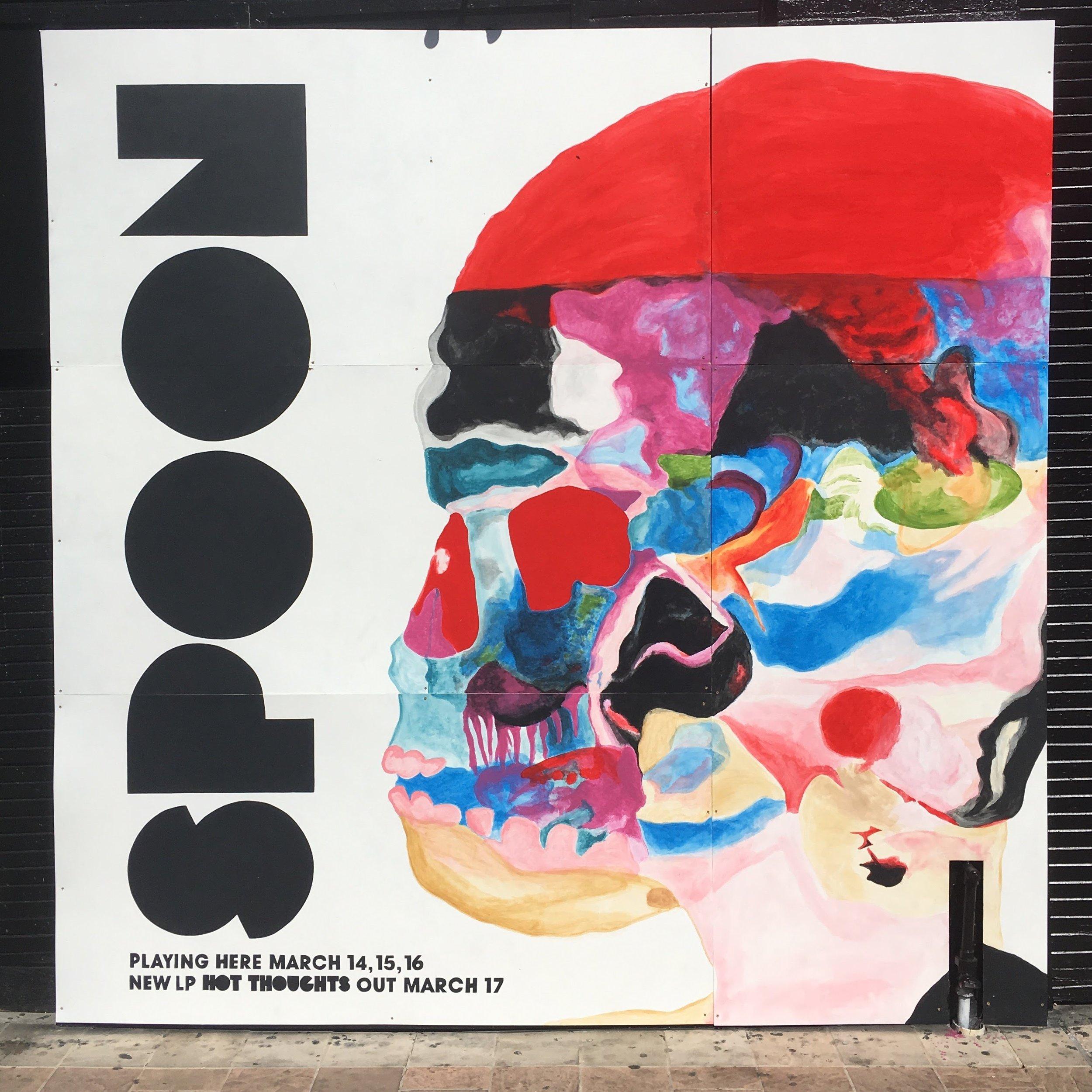 Spoon Album Art Mural - SXSW advertisement