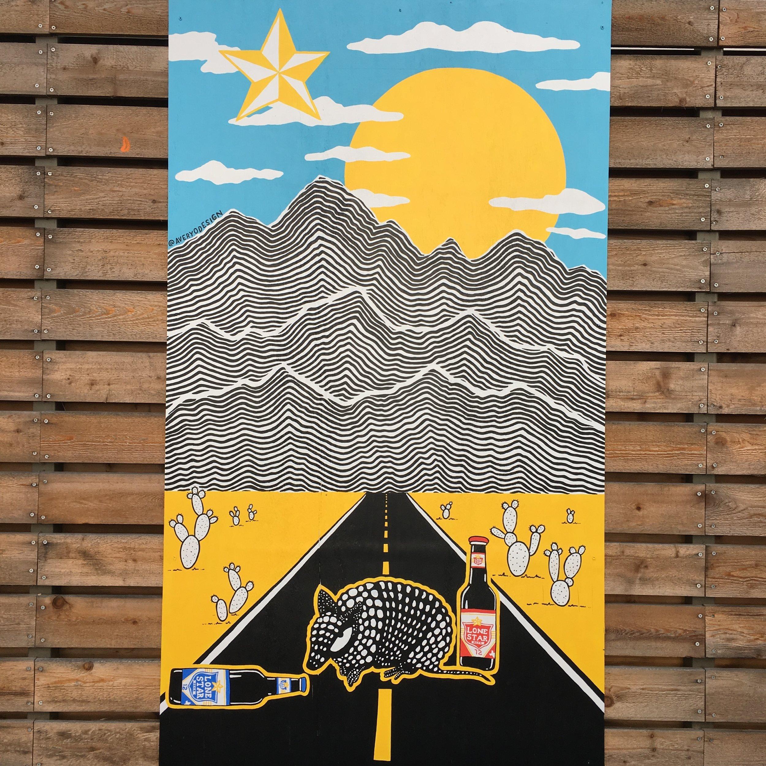Lonestar Beer Mural at The Liberty, Austin