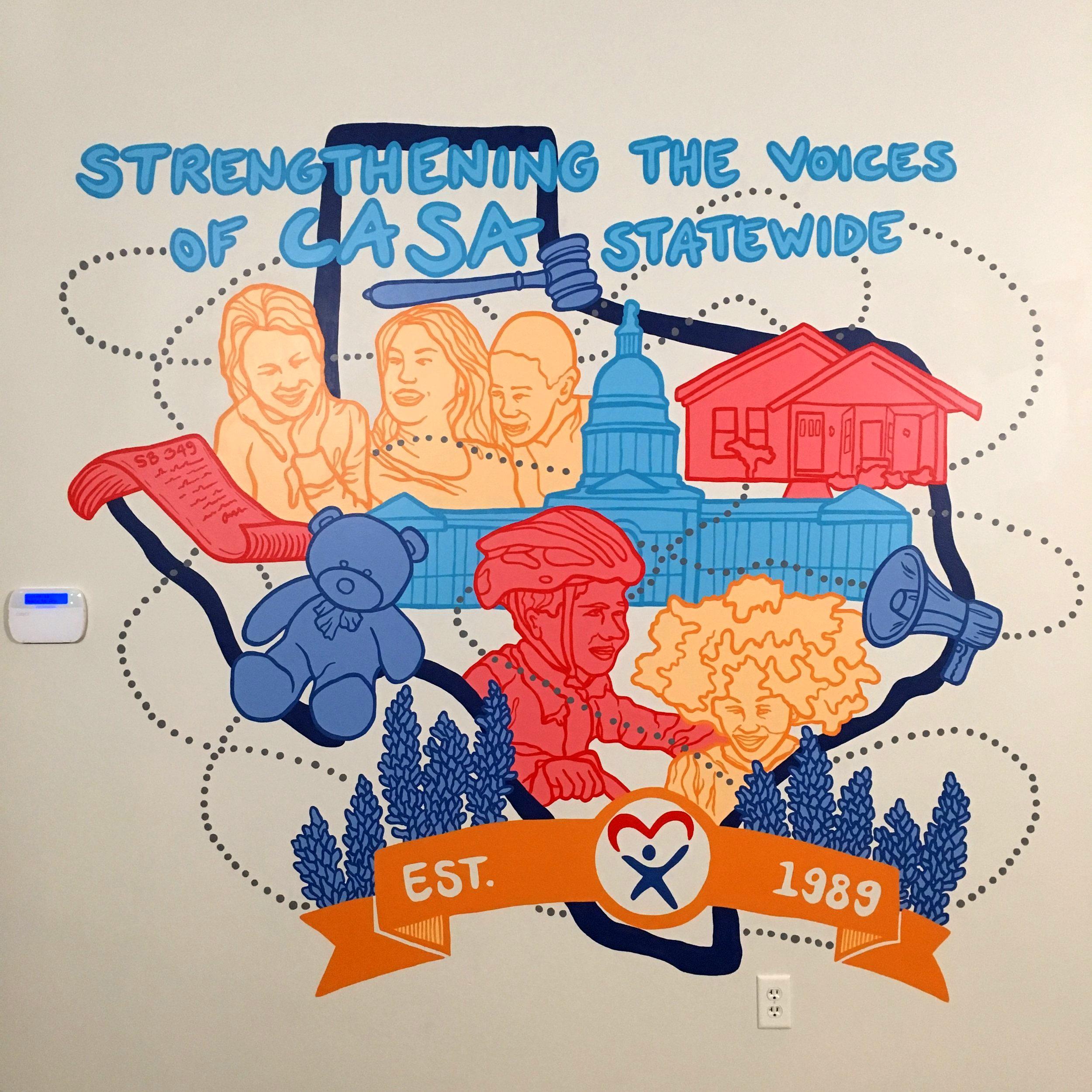 Texas CASA 30th Anniversary Mural