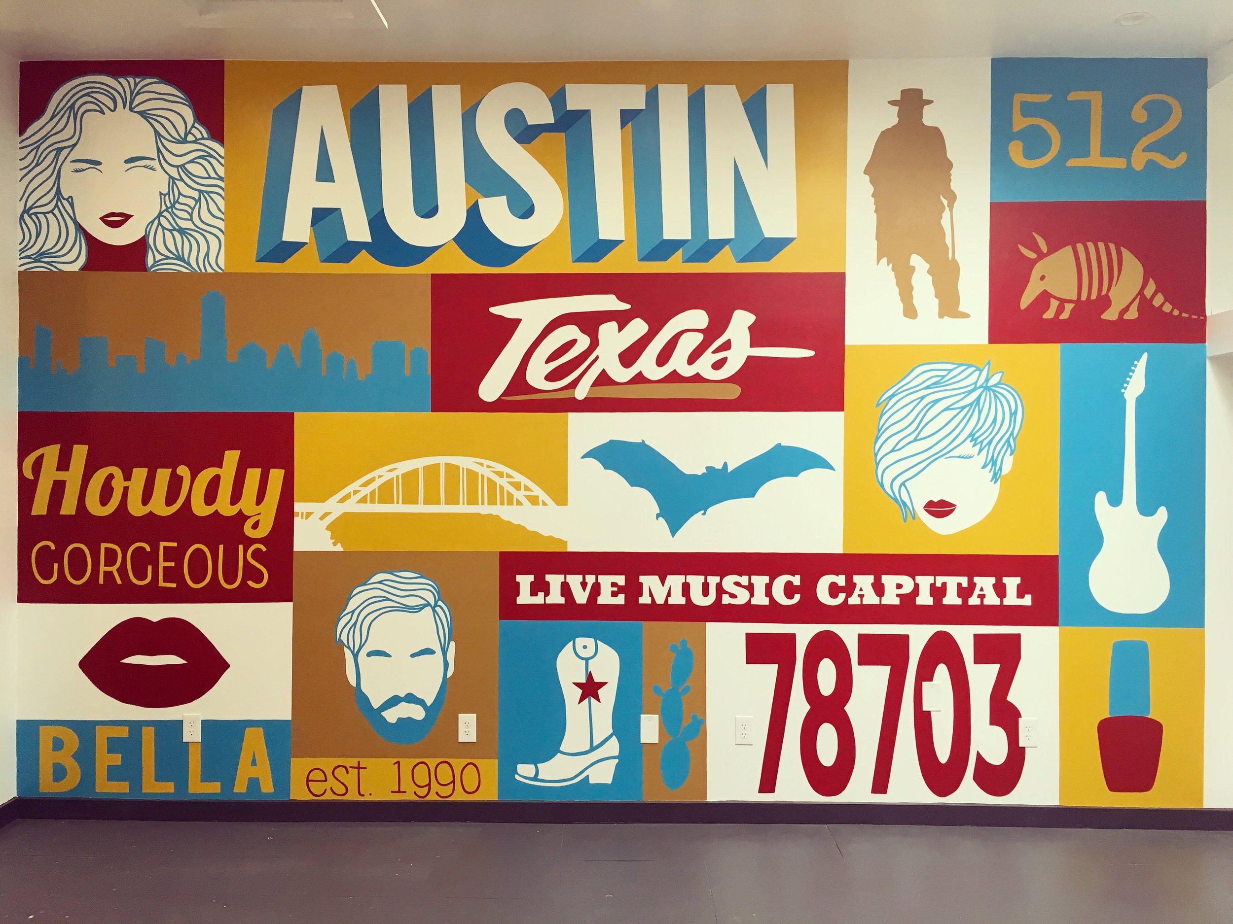Bella Salon Mural, Austin