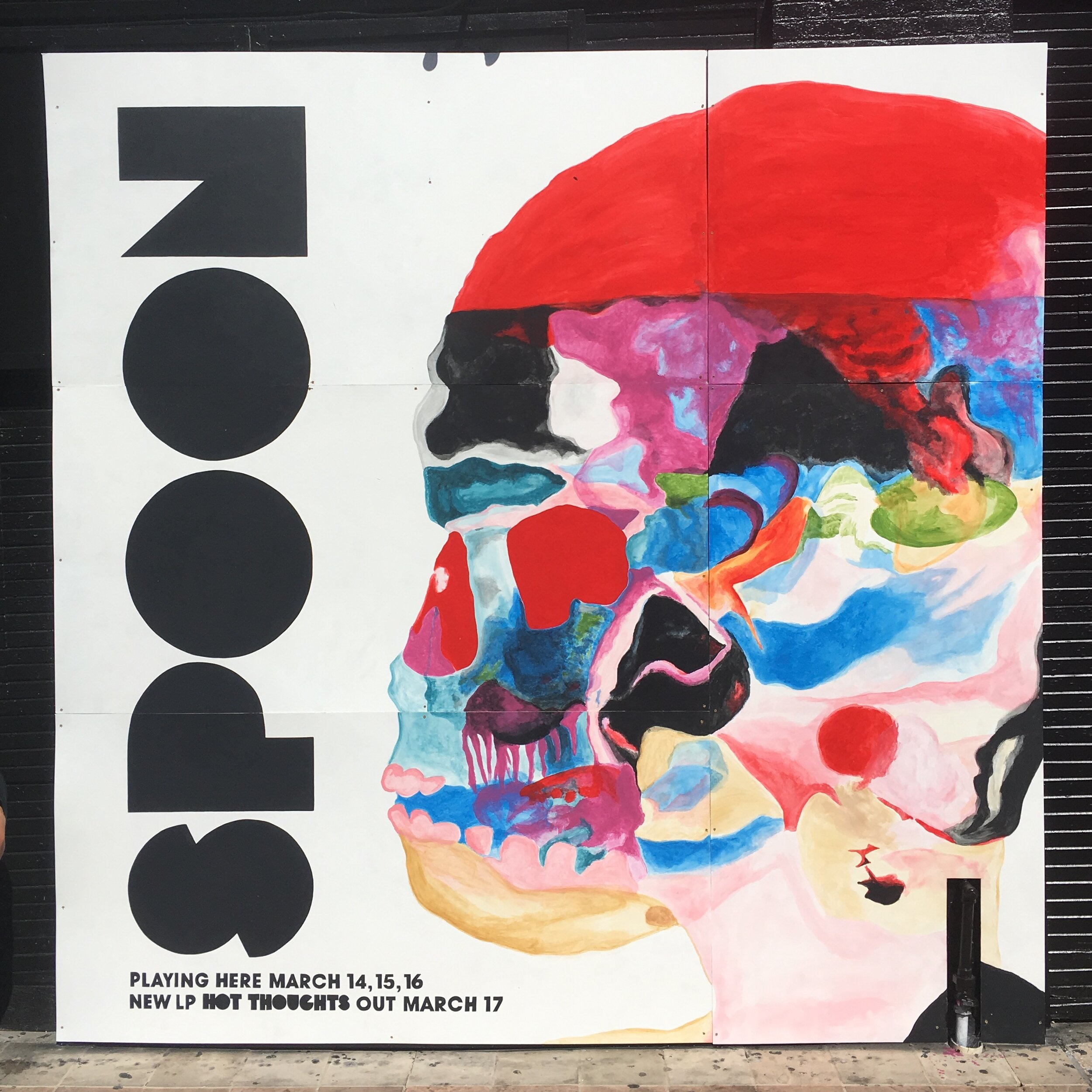 Spoon Album Cover Mural, SXSW Austin