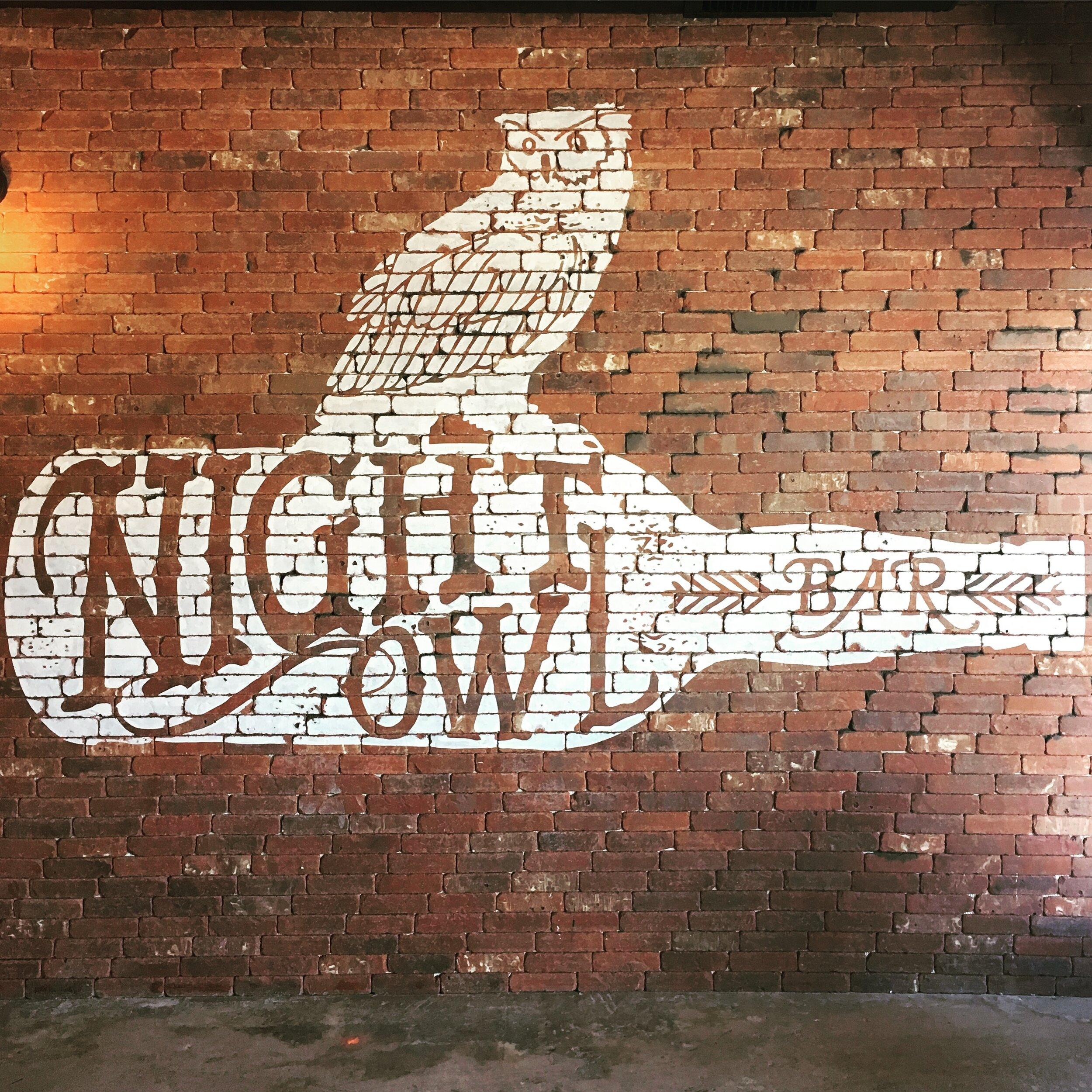 Night Owl Logo Mural, Austin