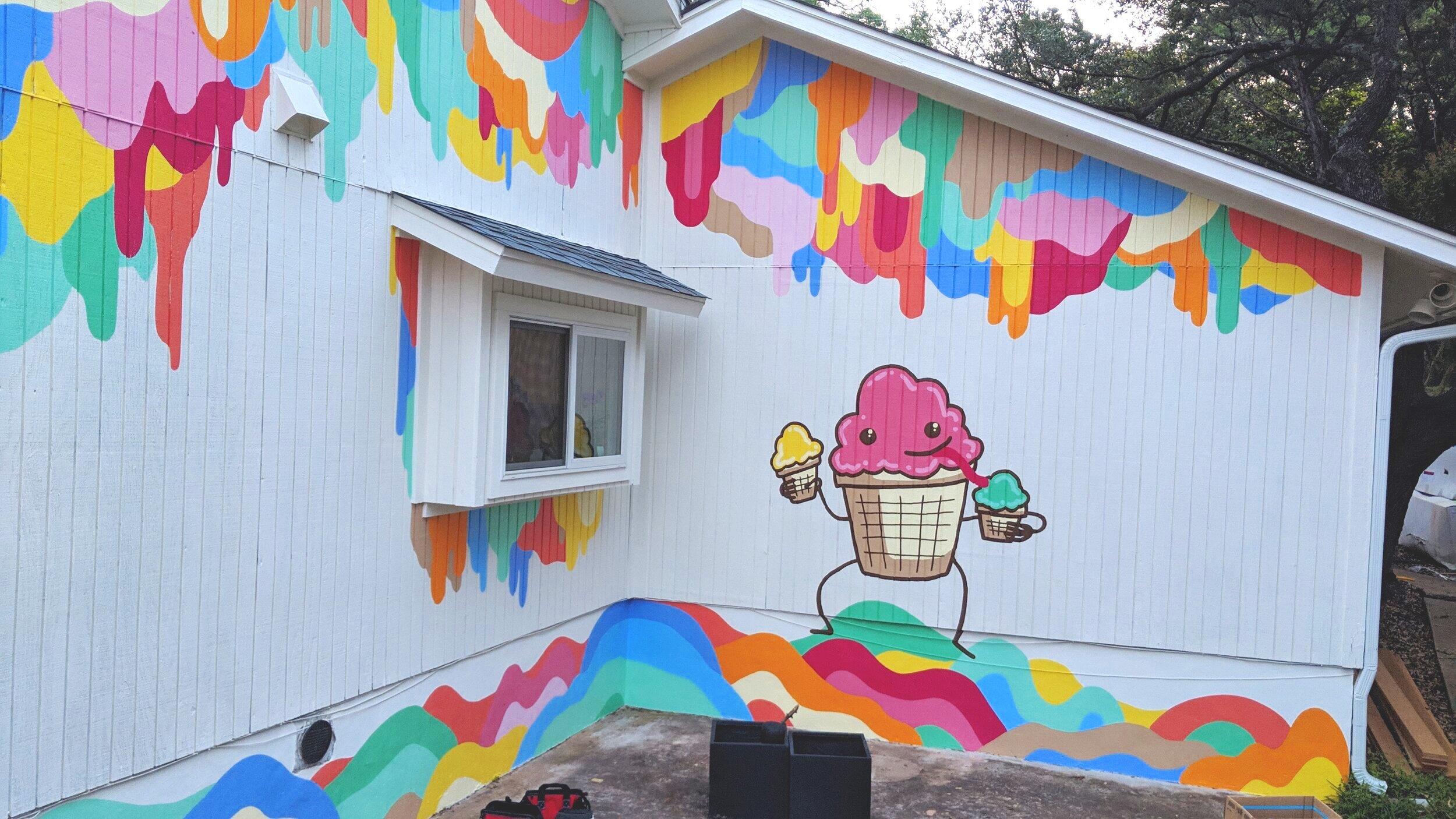 Ice Cream Mural, Austin