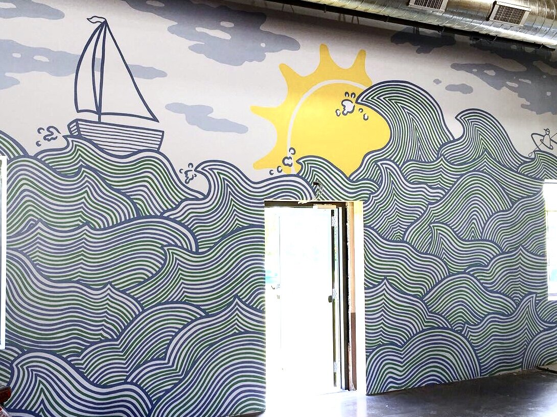 Five Shores Brewery Mural, Beulah MI