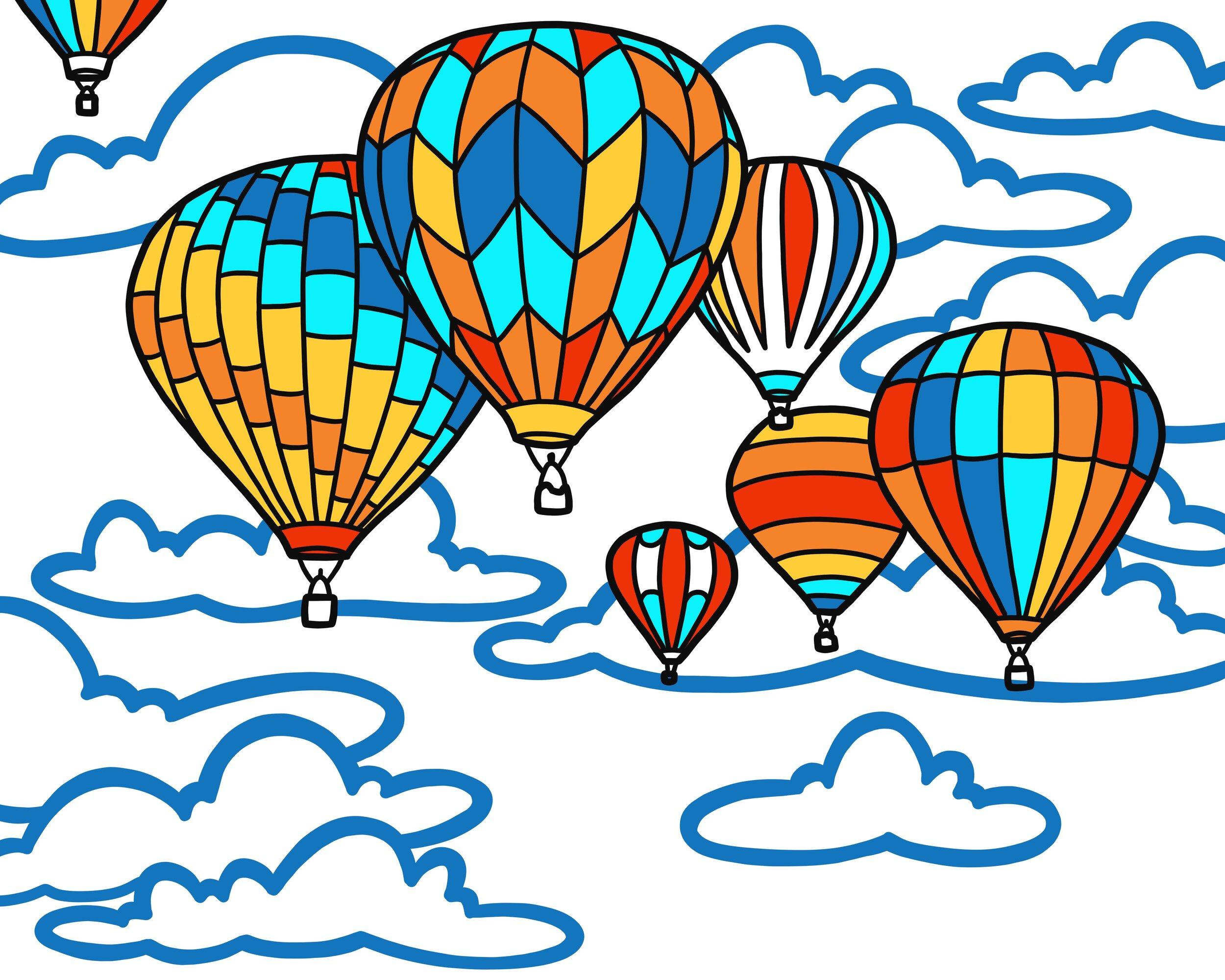 hot air balloon mural design